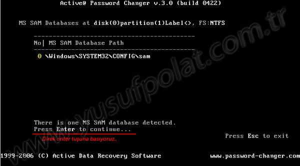 Windows 7 Şifre Sıfırlama Resimli Anlatım 3
